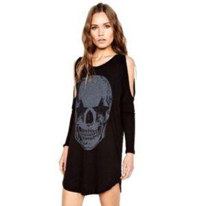 new Lauren Moshi ★ Star Eye Skull Mini Dress ★ Blk